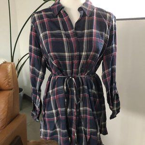 Soft Plaid Button Down Maternity Shirt